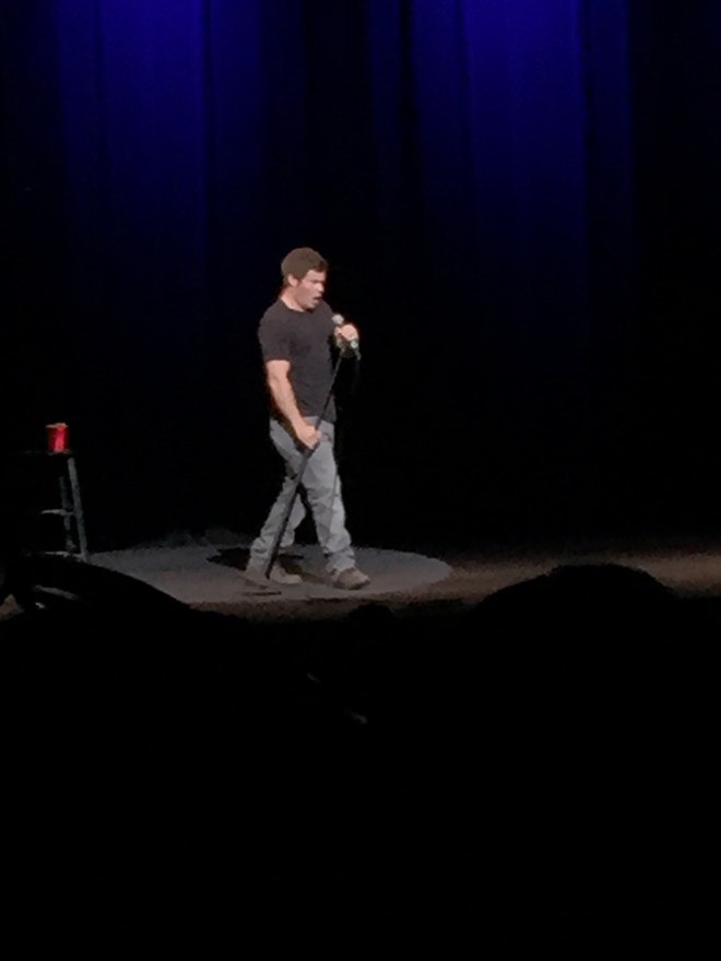 """Adam DeVine starts his show by saying """"Let's get weird."""" Photo by Kimberley Carmona"""