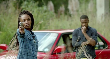 Thishiwe Zigubu as Skeits and Pallamce Dladla as Young TK respectively / Photo courtesy of Fantastic Fest