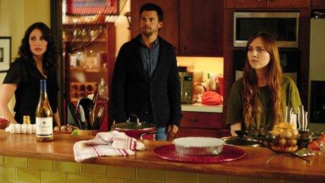 "From left to right: Michaela Watkins, Tommy Dewey, and Tara Lynn Barr star in ""Casual."" / Hulu"