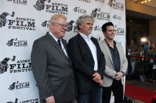 """Executive producer Dan Petrie Jr., director Daniel Alfredson, and producer Rick Dugdale of """"Go With Me"""" appeared at red carpet premiere on Saturday, Oct. 31 at the Paramount Theater. / Photo by Dana Summers"""
