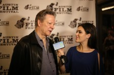"""Chris Cooper speaks with a CelebTV reporter at the red carpet of """"Lone Star."""" / Photo by Josh Guerra"""