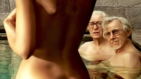 "Michael Caine and Harvey Keitel in ""Youth"" / Photo courtesy of youtube.com"
