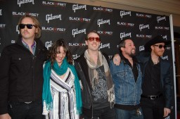 Band members from Not in the Face received a minor grant from Black Fret last Friday.