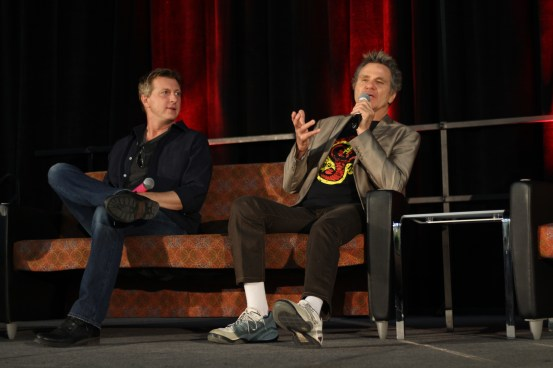 "William Zabka and Martin Kove at their ""Cobra Kai"" panel / Photo by Parker Conley"
