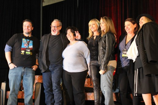 """""""Nightmare on Elm Street"""" stars post for the camera after their panel ended. / Photo by Victor Gutierrez"""