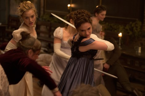 "Lily James and Bella Heathcote kick ass in ""Pride and Prejudice and Zombies."" / Screen Gems"