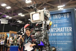 Ino-v8 is a robot made out of inventions from the past 200 years to show the urgent need for new inventions and innovations. / Photo by Dana Summers