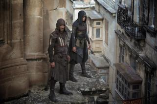 Through a revolutionary technology that unlocks his genetic memories, Callum Lynch (Michael Fassbender) experiences the adventures of his ancestor, Aguilar, in 15th Century Spain with Maria (Ariane Labed). Photo Credit: Kerry Brown.