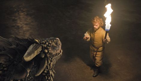 Tyrion unchains the other two dragons. / Photo credit: HBO