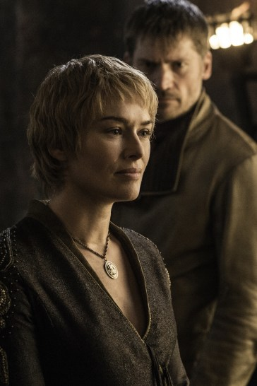 Lena Headey as Cersei Lannister and Nikolaj Coster-Waldau as Jaime Lannister. Photo credit: HBO