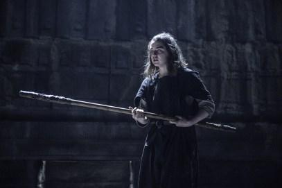 Maisie Williams as Arya Stark. Photo credit HBO