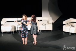 "ATX Television Festival co-founders Emily Gipson and Caitlyn McFarland introduce the 10-year reunion of ABC's ""Ugly Betty"" at the Paramount Theatre on Saturday June 11. / Photo by ChinLin Pan"