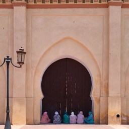 The mosque outside the Saadian Tombs.