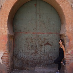 Standing outside the door of 1 of 6 of the King's palaces in Marrakech. No one is allowed to go inside.