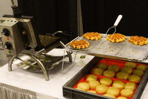 Le Waf was even there making free waffles!