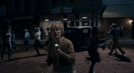 "Helen Ingebritsen as ""Woman with Flashlight"" in ""Brave New Jersey"" / Photo by Corey Walter"