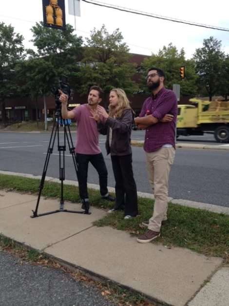 Jeff Bierman , Steve Souryal and director Eve Marson on the road