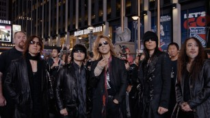 """X Japan stands outside Madison Square Garden prior to their concert in Drafthouse Films' """"We Are X."""" / Courtesy of Drafthouse Films"""