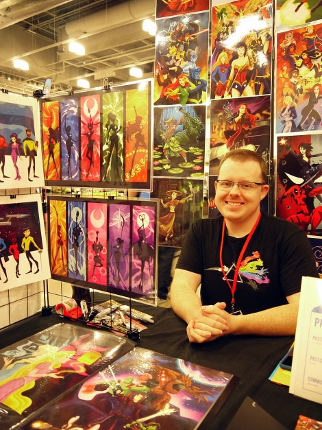 Robby Cook at Dallas Comic Con: Fan Days / Photo by ChinLin Pan
