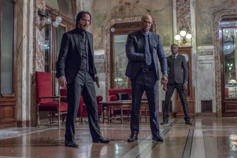 John Wick (Keanu Reeves, left) and Cassian (Common, right). Photo Credit: Niko Tavernise
