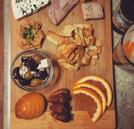 Home-made cheese plate by Victor Gutierrez