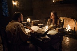 Samwell Tarly (John Bradley), Gilly (Hannah Murray) | Photo by Helen Sloan/HBO