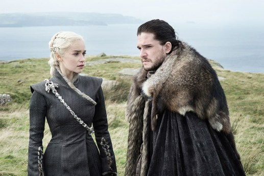 Daenerys (Emilia Clarke), Jon Snow (Kit Harington) | Photo by Helen Sloan/HBO