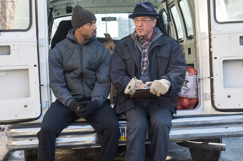 "Still from ""Creed"" starring Michael B. Jordan and Sylvester Stallone / Photo by Barry Wetcher courtesy of Warner Bros. Entertainment and Metro-Goldwyn-Mayer Pictures"