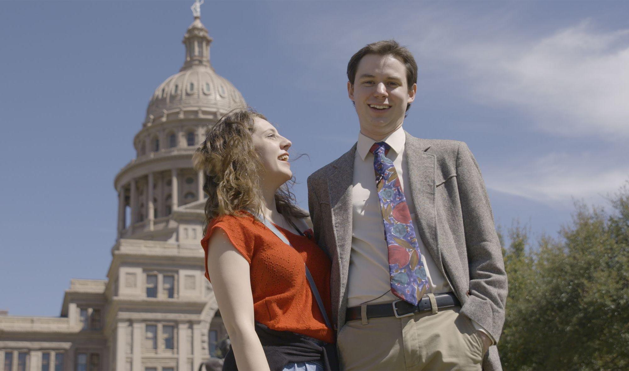 Hayden Pedigo and wife L'Hannah Pedigo in Austin