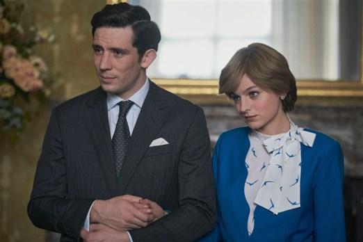 Emmy nominees Josh O'Connor and Emma Corrin