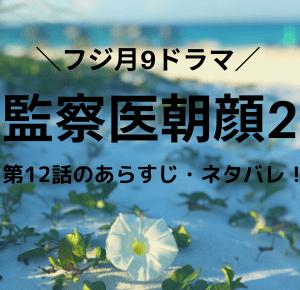 「監察医朝顔2・ドラマ」第12話のあらすじ・ネタバレ!つぐみが行方不明に?万木家はこれからどうなるのか?!