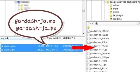 日本語化ファイルをサーバーにUP