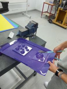 Cutting the plastic - easy because it's thin