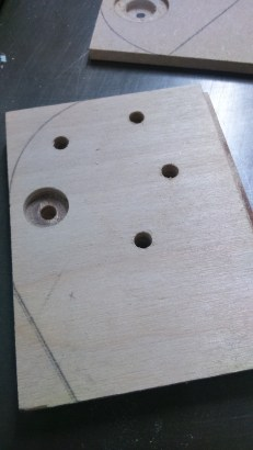 Plywood with different hole sizes