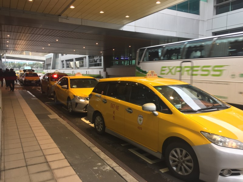 Taxis service in the Taoyuan International Airport. Photo /Liu Chia Yu(劉家瑜)