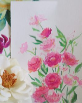 Pink Roses – Watercolor Artwork