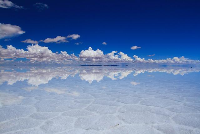 ウユニ塩湖が鏡張りの状態になるのは1~3月の間だけ
