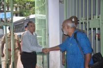 Arrival of Director General & Inspector General of Correctional Services, West Bengal, Mr. A. K. Gupta. He is being greeted by Mr. Chitta Dey