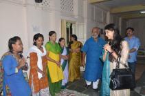 Kaushiki Chakraborty interacting with inmates