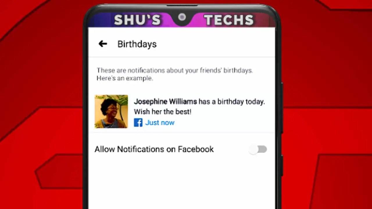 Stop Birthday Notifications On Facebook App Tutorial Shu S Techs