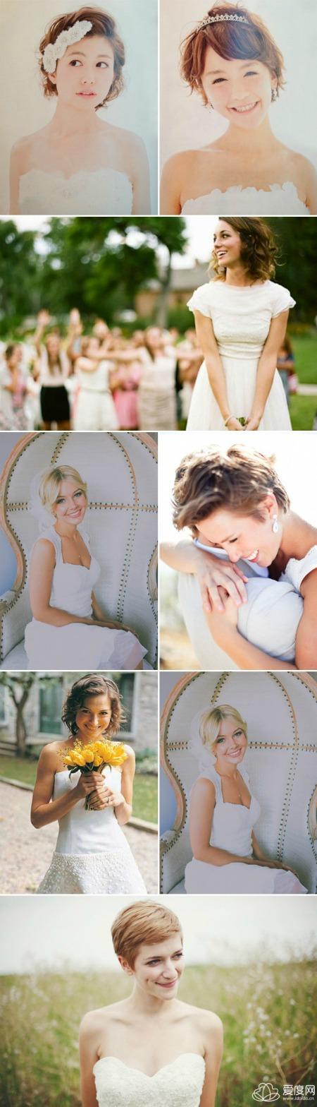 短髮新娘特輯-33款亮眼短髮造型 打造不同風格