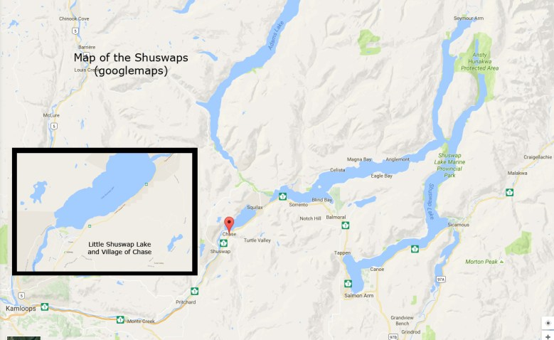 map of shuswaps