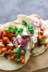 vegan buffalo chickpea tacos in under 30 minutes