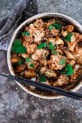 sweet and sour cauliflower - sugar free and whole30 compliant.