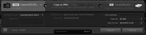Adobe Lightroom Minimal Import Dialog