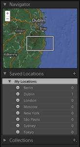 Adobe Lightroom Map Module Navigator Panel