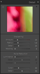 Lightroom Develop Detail Panel