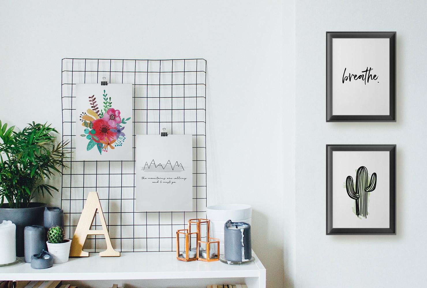 25 Unique DIY Wall Art Ideas (With Printables)