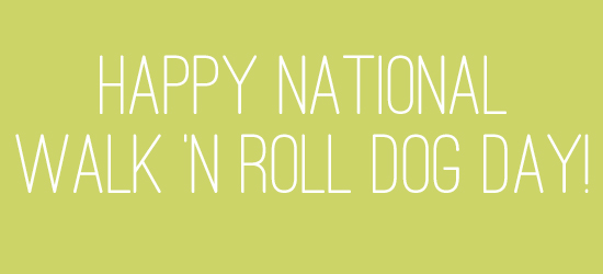 Happy National Walk 'n Roll Dog Day!