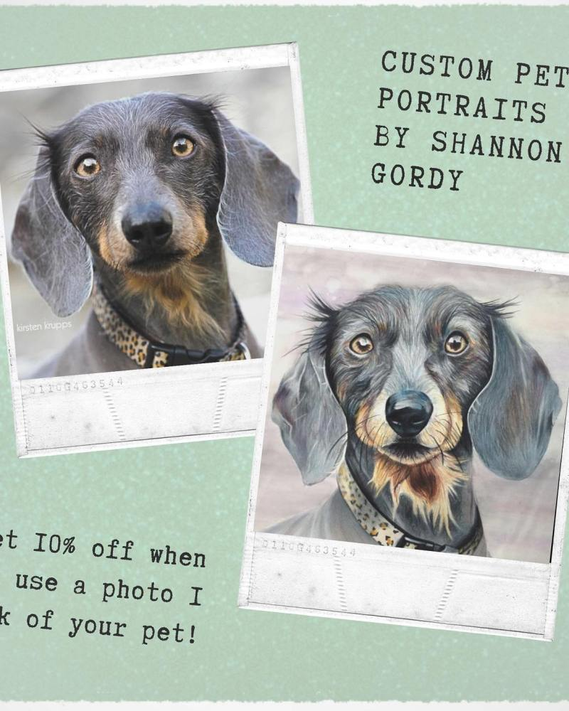 10% off Custom Pet Artwork for Previous Shutter Hound Clients